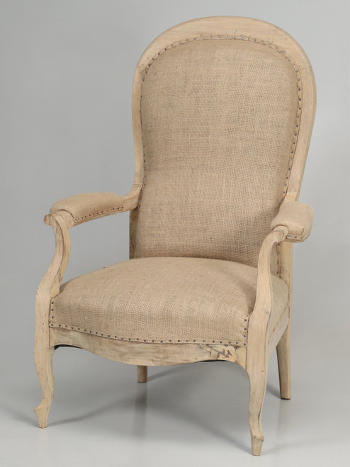 Antique French Armchair Structurally Restored Angled