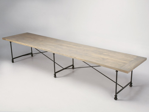 Custom Steel & Bronze Table with Oak Top Main