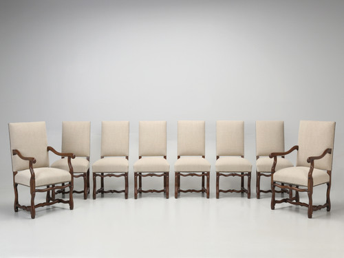 French Os De Mouton Dining Chairs, Set of 8 Set Front
