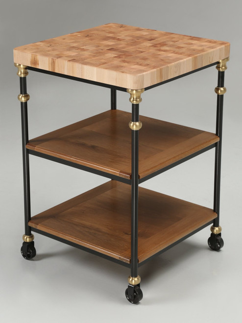 Industrial French Inspired Kitchen Island