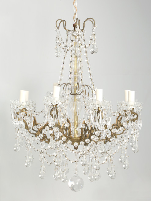 French Bronze Chandelier Hand-Made