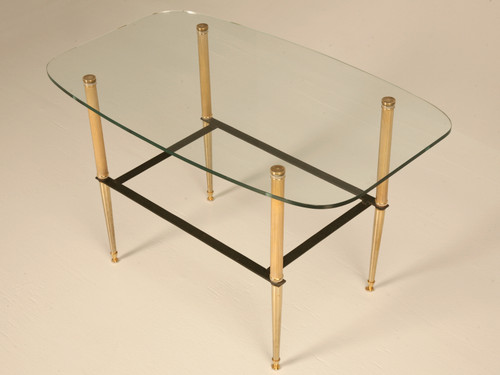 Vintage French Moderne Coffee Table Angled