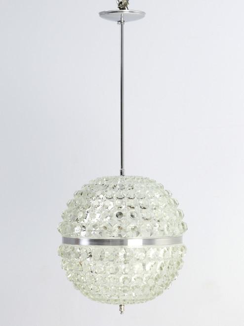 Midcentury Modern Glass Orb Pendant Front