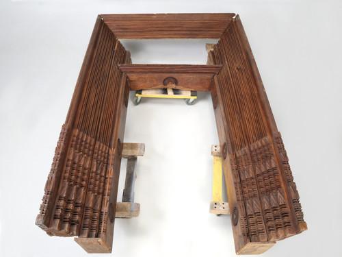 Antique Teak Carved Wood Door Frame