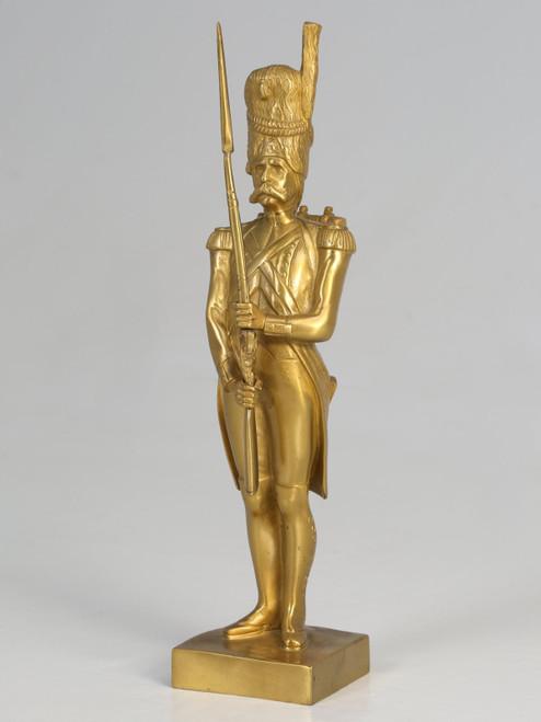 Gilt Bronze Soldier Sculpture by Medwedsky