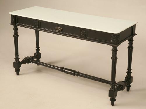 Ebonized Antique French Louis XVI Console Angled