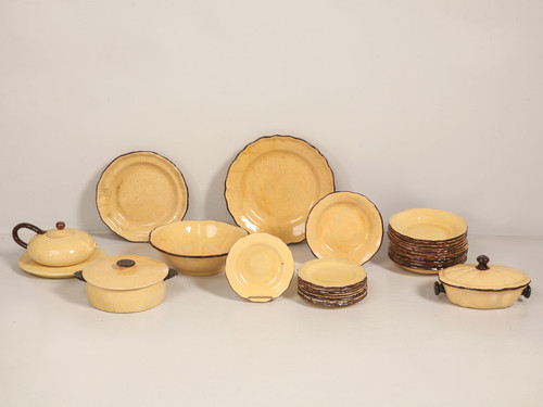 """28 pc. Collection of """"Dieulefit"""" Yellowware"""