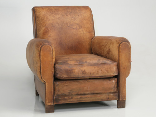 French Art Deco Club Chair Carefully Restored Full