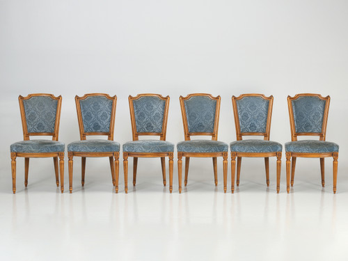Vintage Louis XVI Style Side Chairs Set of 6 Set Front