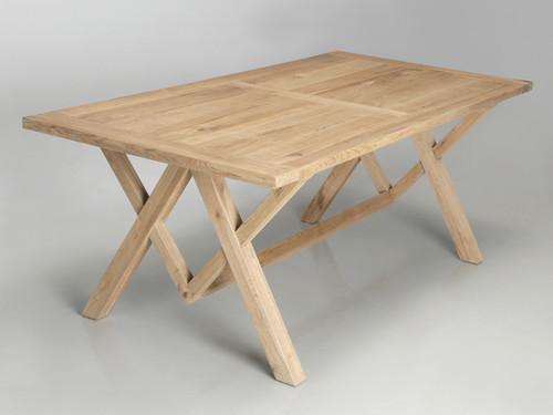 California White Oak Dining or Kitchen Table Angled