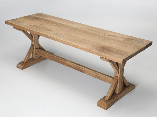 Antique French Farm Wood Pegged Table Main
