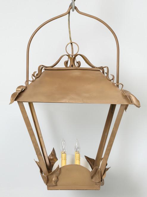 Vintage French Lantern Restored Front