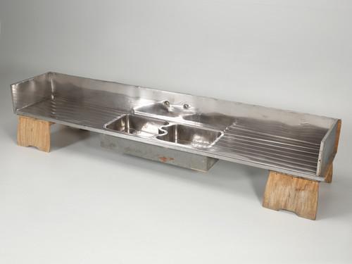 Antique German Silver Sink Original Condition
