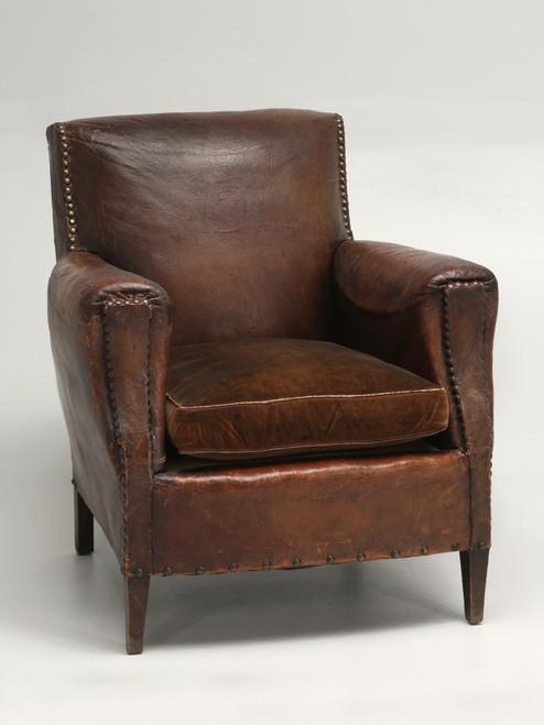 Art Deco All Original Leather Club Chair Main