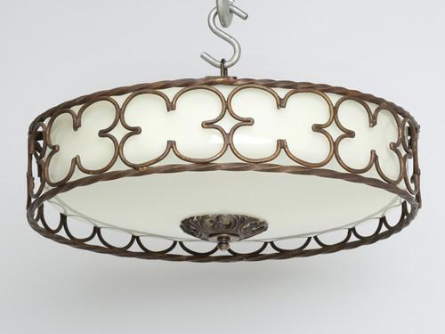 Vintage American Chandelier or Ceiling Light Tilted