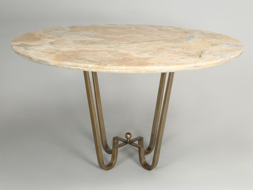 Custom Cold Plated Bronze Center Hall Table Front