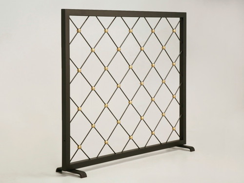 Made to Order Midcentury Modern Fireplace Screen Angled