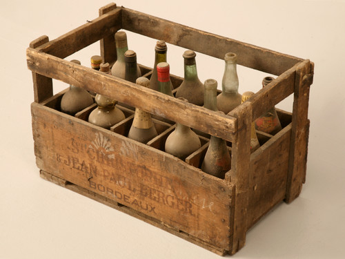 Original Vintage French Wine Crate