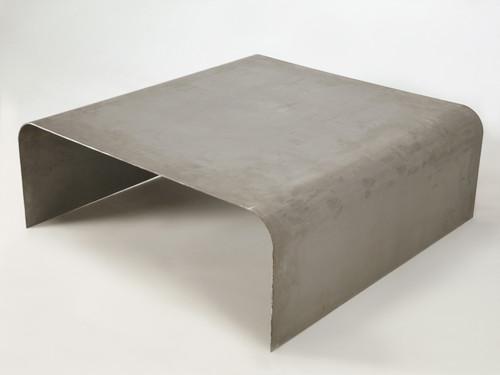 Custom Industrial Steel Coffee Table