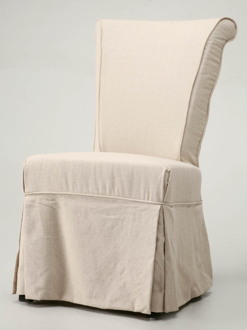 Linen Side Chair with Slip Covers