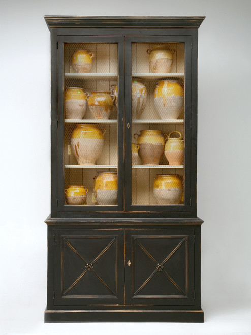 Custom Directoire Style Painted Bookcase