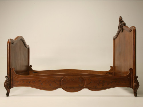 Antique French Walnut Bed