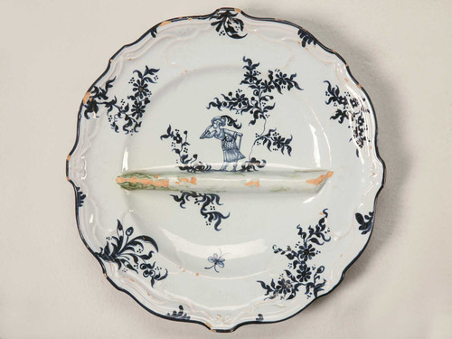 c. 1880 Asparagus Plate by Emile Galle