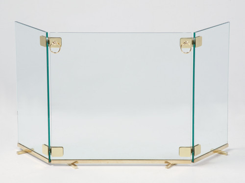 Custom Made Glass Fireplace Screen
