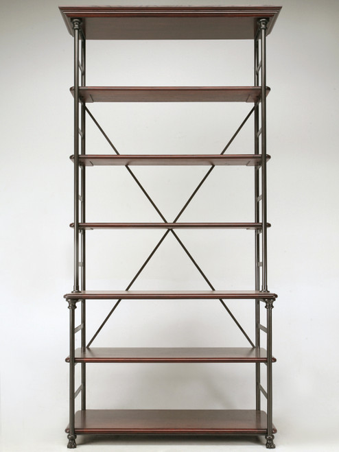 Industrial style Étagère in Steel and Bronze Front