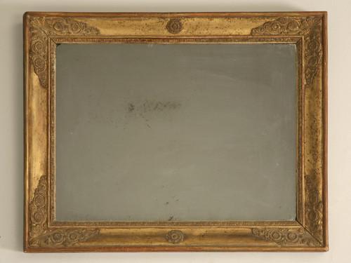 Petite 18th C. Antique Mirror in Gilt Frame