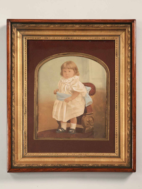 Orig.  American Victorian Painted Portrait