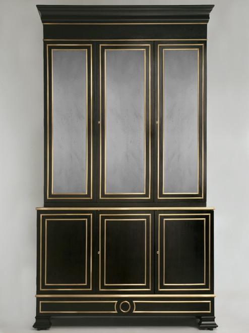 Maison Jansen Inspired Louis XVI Style Bookcase Solid Bronze Trim