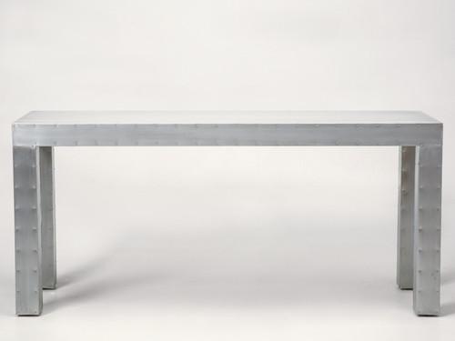 Custom Made Zinc Console Table