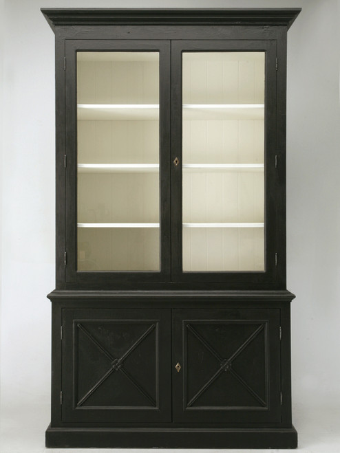 Custom Country French Painted Bookcase or Cabinet Front
