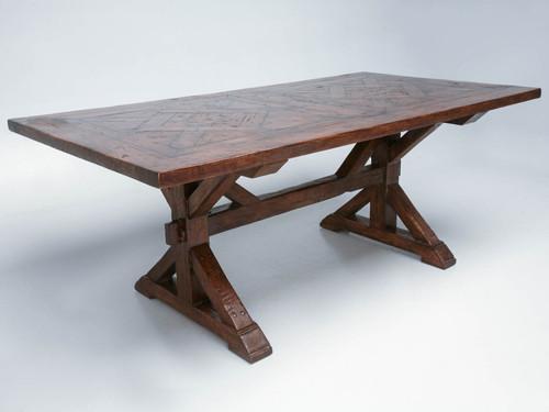Custom Parquet Solid White Oak Farm Table Main