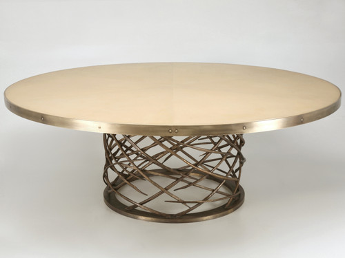 Custom Made Woven Solid Bronze Table Base Main