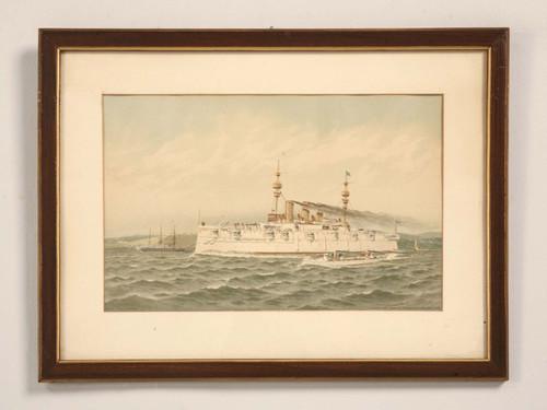 New York Naval Armory Chromolithograph