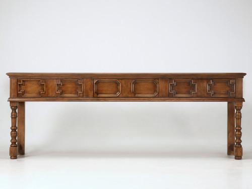 Custom Handmade Sofa Table Front