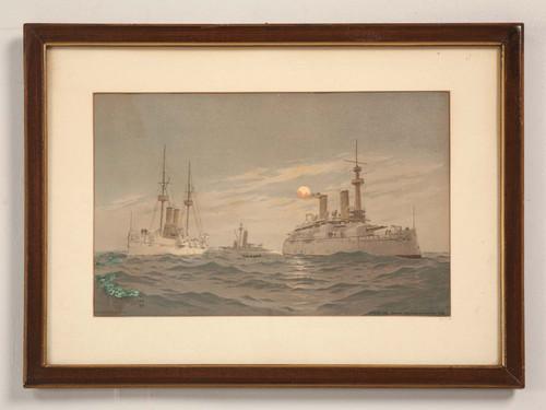Naval Chromolithograph