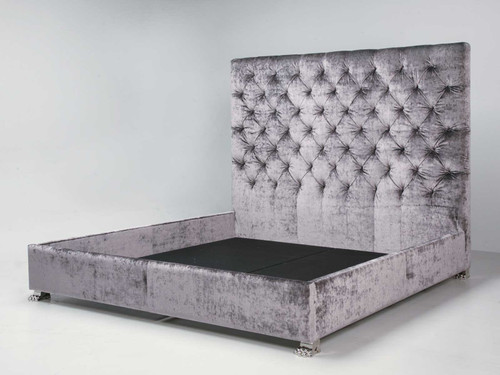 Custom Tufted Bed with Plush Upholstery