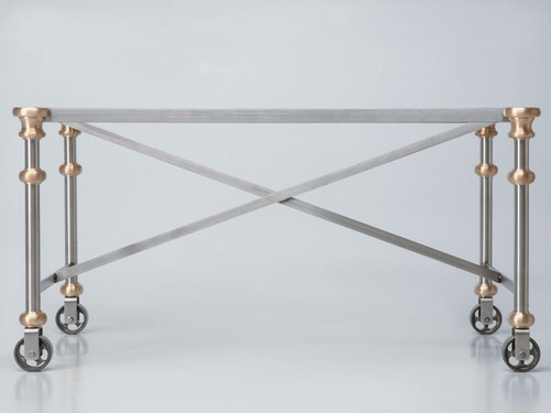 Stainless Steel & Bronze Coffee Table Base Front