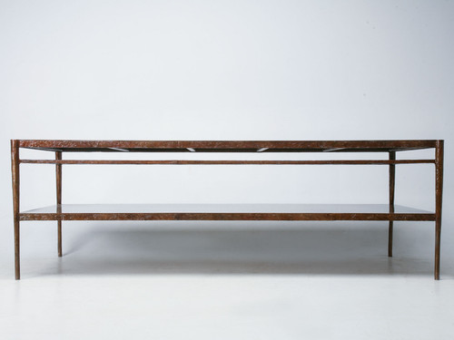 Solid Bronze Giacometti Inspired Work Table Front View