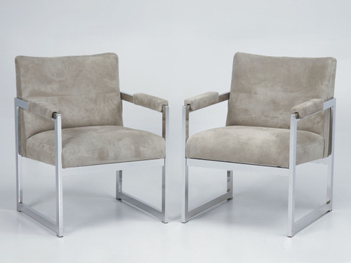 Pair of Milo Baughman for Thayer Coggin Chairs Front