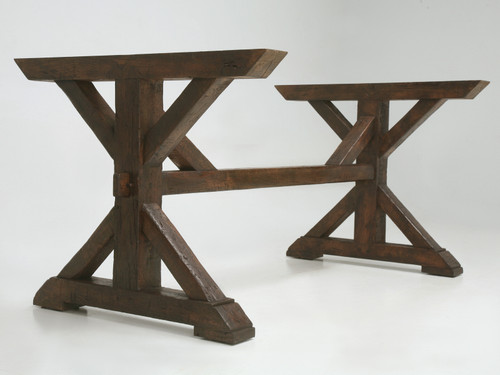 Custom Table Base Made from Antique Wood Main