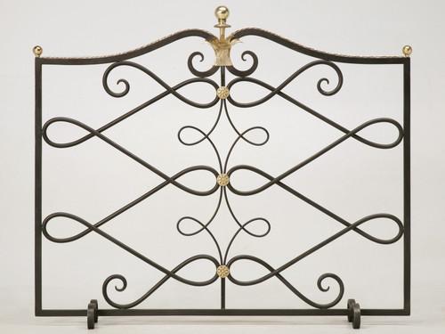 Steel & Brass Fireplace Screen (G. Poillerat)