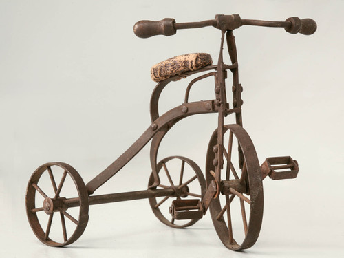 Vintage English Steel Toy Tricycle