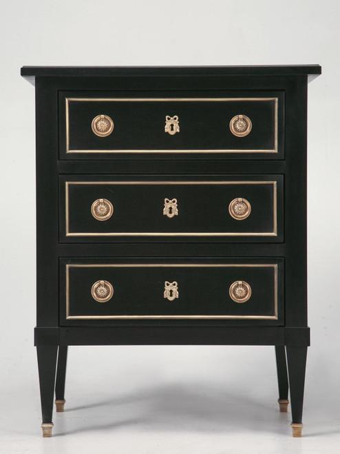Custom Handmade Louis XVI Nightstand Front