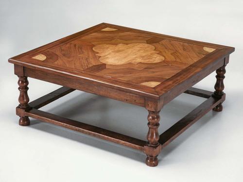 Handmade French Coffee Table Angled