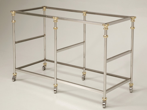 Polished Stainless Steel Island Base with Bronze