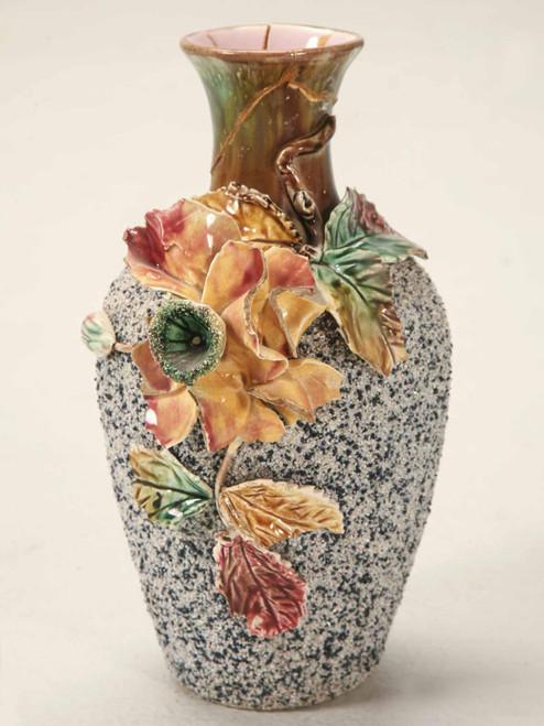 Signed Sand Magolica Vase